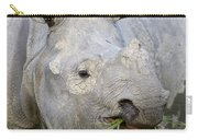 Indian Rhinoceros Grazing Kaziranga Carry-all Pouch