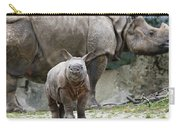 Indian Rhinoceros Rhinoceros Unicornis Carry-all Pouch