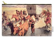 Indians Attacking A Pioneer Wagon Train Carry-all Pouch