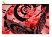 Infinity Time Cube Red Carry-all Pouch