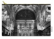 Inside St Louis Cathedral Jackson Square French Quarter New Orleans Black And White Carry-all Pouch