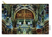 Inside St Louis Cathedral Jackson Square French Quarter New Orleans Glowing Edges Digital Art Carry-all Pouch