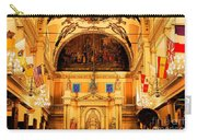 Inside St Louis Cathedral Jackson Square French Quarter New Orleans Ink Outlines Digital Art Carry-all Pouch