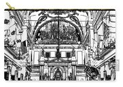 Inside St Louis Cathedral Jackson Square French Quarter New Orleans Stamp Digital Art Carry-all Pouch
