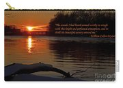 Inspirational Sunset With Quote Carry-all Pouch