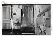 Interior In Black And White Carry-all Pouch
