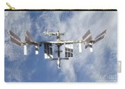 International Space Station Backdropped Carry-all Pouch