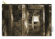 Into The Butterfly Garden Sepia Carry-all Pouch