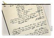 Invoice Of A Sale Of Black Slaves Carry-all Pouch