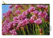 Ireland Close-up Of Seapink Wildflowers Carry-all Pouch