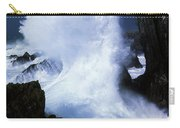 Ireland, Waves Crashing On Rocks Carry-all Pouch