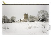 Ireland Winter Landscape With Church Carry-all Pouch