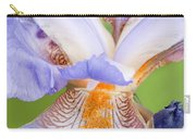 Iris Close Up Blue And Gold Carry-all Pouch
