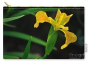Iris In Yellow Carry-all Pouch