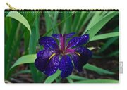 Iris With Rain Drops Carry-all Pouch