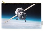 Iss Crew Arriving By Soyuz Spacecraft Carry-all Pouch by NASA / Science Source