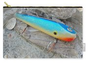 J And J Flop Tail Vintage Saltwater Fishing Lure - Blue Carry-all Pouch