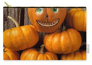 Jack-o-lantern On Stack Of Pumpkins Carry-all Pouch