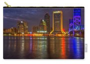 Jacksonville At Night Carry-all Pouch by Debra and Dave Vanderlaan