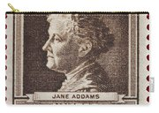 Jane Addams Postage Stamp Carry-all Pouch