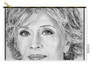 Jane Fonda In 2005 Carry-all Pouch by J McCombie