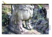 Japanese Garden Lion Dog Statue 2 Carry-all Pouch