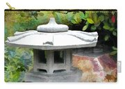 Japanese Garden Stone Snow Lantern Carry-all Pouch