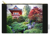 Japanese Garden With Pagoda And Pond Carry-all Pouch