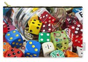 Jar Spilling Dice Carry-all Pouch by Garry Gay