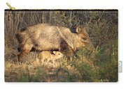 Javalina And Baby Carry-all Pouch
