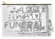 Jazz Funeral Sketch Carry-all Pouch