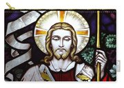 Jesus Close Up Stained Glass Carry-all Pouch