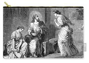 Jesus With Mary & Martha Carry-all Pouch