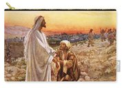 Jesus Withe The One Leper Who Returned To Give Thanks Carry-all Pouch