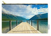 Jetty Of A Beautiful Lake  Carry-all Pouch