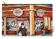 Jewish Montreal Vintage City Scenes Fish Market On Roy Street Carry-all Pouch