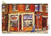 Jewish Montreal Vintage City Scenes Hutchison Street Butcher Shop  Carry-all Pouch