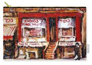 Jewish Montreal Vintage City Scenes Indigs Kosher Butcher Carry-all Pouch