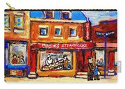 Jewish Montreal Vintage City Scenes Moishes St. Lawrence Street Carry-all Pouch