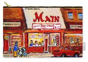 Jewish Montreal Vintage City Scenes The Main Rib Steaks On St. Lawrence Boulevard Carry-all Pouch
