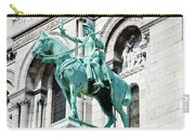 Joan Of Arc At Sacre Coeur Basilica Paris France Carry-all Pouch