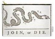 Join Or Die French And Indian War Carry-all Pouch by Photo Researchers