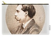Jules A.h. De Goncourt (1830-1870). French Novelist: Engraving After A Contemporary Portrait On Enamel Carry-all Pouch