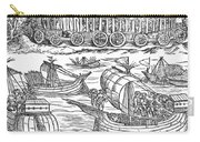 Julius Caesar Sailing The Thames 54 Bc Carry-all Pouch