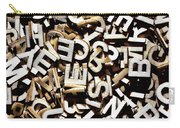 Jumbled Letters Carry-all Pouch