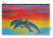 Jumping Dolphins Left Carry-all Pouch