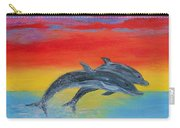 Jumping Dolphins Right Carry-all Pouch