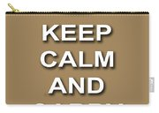 Keep Calm And Carry On Poster Print Brown Background Carry-all Pouch