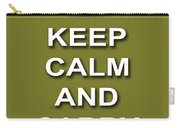 Keep Calm And Carry On Poster Print Olive Background Carry-all Pouch