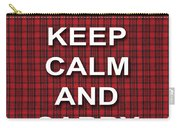 Keep Calm And Carry On Poster Print Red Black Stripes Background Carry-all Pouch